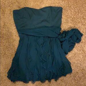 French Connection ruffle asymmetric mini dress
